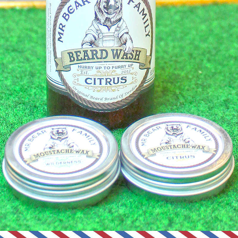 Mr. Bear Moustache WAX